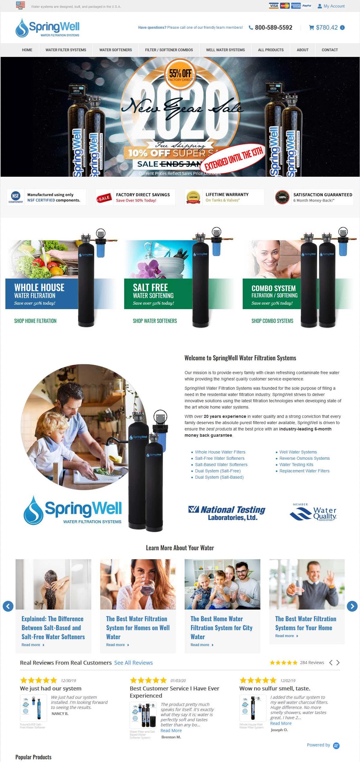 springwell water filter website